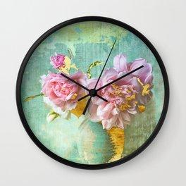Glam Shabby Chic Still Life Wall Clock