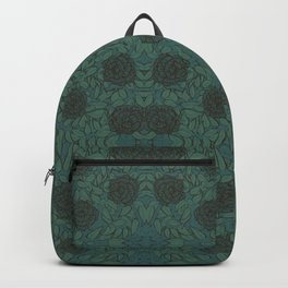 Roses & Foliage in Shades By Danae Anastasiou Backpack