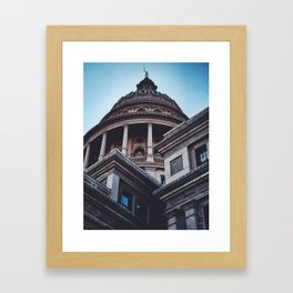 Capitol Building / Austin, Texas Framed Art Print