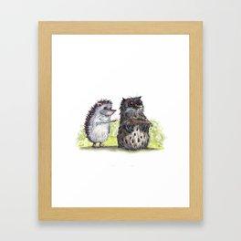 Hedgehog's here Framed Art Print