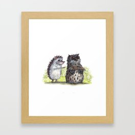 Hedgehog's here Framed Art Print