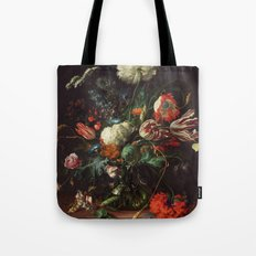 Jan Davidsz de Heem - Vase of Flowers Tote Bag
