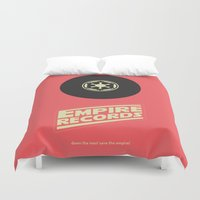 records Duvet Covers featuring Empire Records by mattranzetta