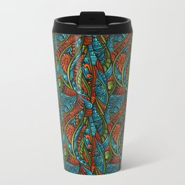 Red and Blue Abstract Travel Mug