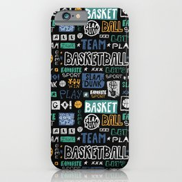 Basketball sketch. Pattern. iPhone Case