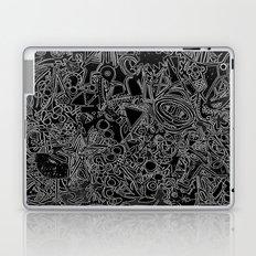 White/Black #1 Laptop & iPad Skin
