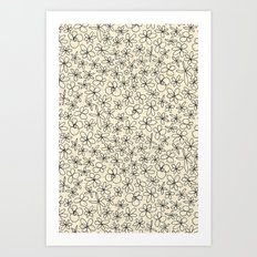garland flowers ivory Art Print