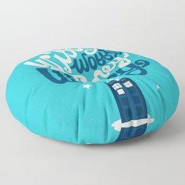 Wibbly Wobbly Timey Wimey Floor Pillow