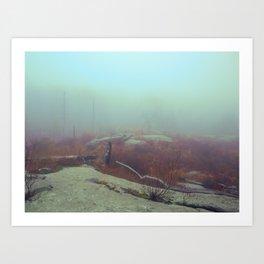 HIGHLAND FOG Art Print