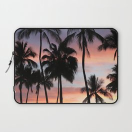 Tropical Palm Trees Sunset in Mexico Laptop Sleeve