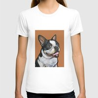 snoopy T-shirts featuring Snoopy the Boston Terrier by Pawblo Picasso