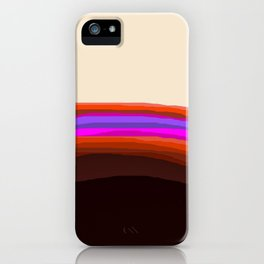 Orange, Purple, and Cream Abstract iPhone Case