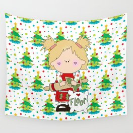 Cooking Christmas Cookies Wall Tapestry