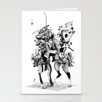 samurai Stationery Cards featuring Samurai! by HELLLOJOJO
