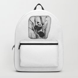 Panda Bear in a tree by annmariescreations Backpack