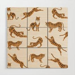 Tiger Print Wood Wall Art
