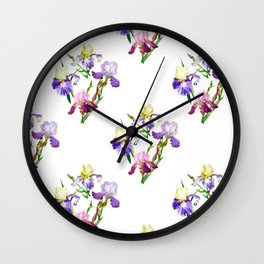Irises Neck Gator Colorful Iris Wall Clock