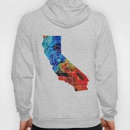California - Map Counties by Sharon Cummings Hoody
