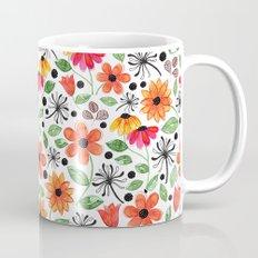 Dandelions & Flowers / White Mug