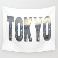 tokyo Wall Tapestries featuring Tokyo by Bonnie J. Breedlove
