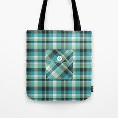 Plaid Pocket - Teal Blue/Green Tote Bag