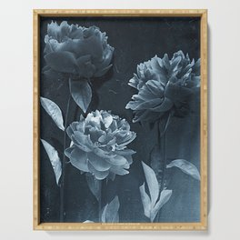Blue Peonies Serving Tray