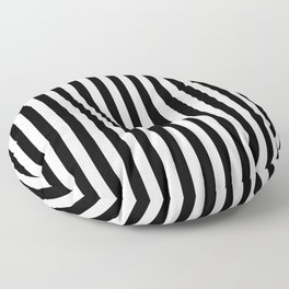 Stripe Black And White Vertical Line Bold Minimalism Stripes Lines Floor Pillow