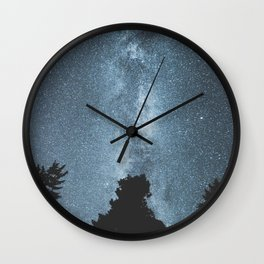 Stars over the Forest Wall Clock