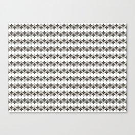 sketchy zig zag plus pattern Canvas Print