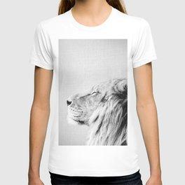 Lion Portrait - Black & White T-shirt