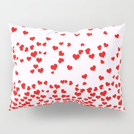 Falling Hearts Pillow Sham