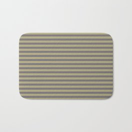 Rayures stripes moutarde taupe Bath Mat