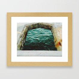 A Look Into The Sea Framed Art Print