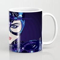 catwoman Mugs featuring Catwoman  by Jordi Hayman Design
