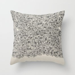 Abstract Pattern – Black Throw Pillow