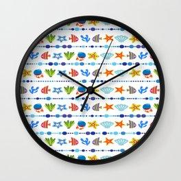 Coral reef fish coral star Wall Clock