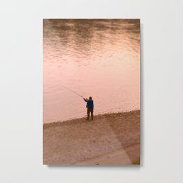 Rhine Fisherman Metal Print