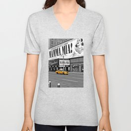 NYC - Yellow Cabs - Musical - High Unisex V-Neck