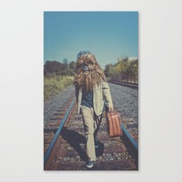 Corduroy and Leather Canvas Print