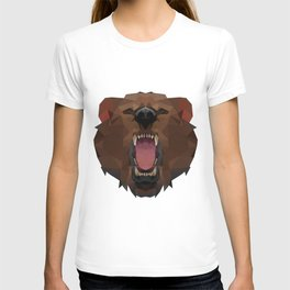Bear | Polygon Triangle Abstract Artwork T-shirt