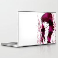 amy hamilton Laptop & iPad Skins featuring Amy by Abbi Laura