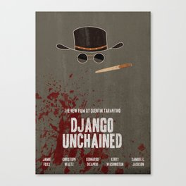 Django Unchained Movie Poster Canvas Print