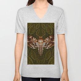 Deaths-Head Moth Unisex V-Neck