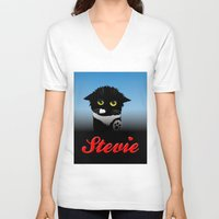 stevie nicks V-neck T-shirts featuring Stevie by Mike Halliday