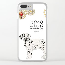 Year of the Dog - Dalmatian Clear iPhone Case