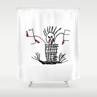 skeleton Shower Curtains featuring Skeleton by WeKids Design