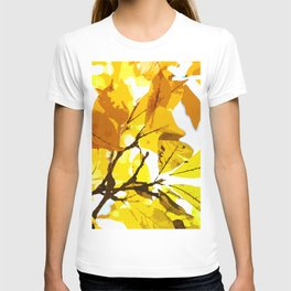 Autumn colors, leaves #oil #on #canvas T-shirt