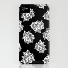 White Spike Clusters Slim Case iPhone (4, 4s)