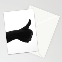 Silhouette hand ok symbol Stationery Cards