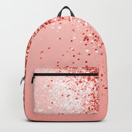 Sparkling Living Coral Lady Glitter #1 #shiny #decor #art #society6 Backpack